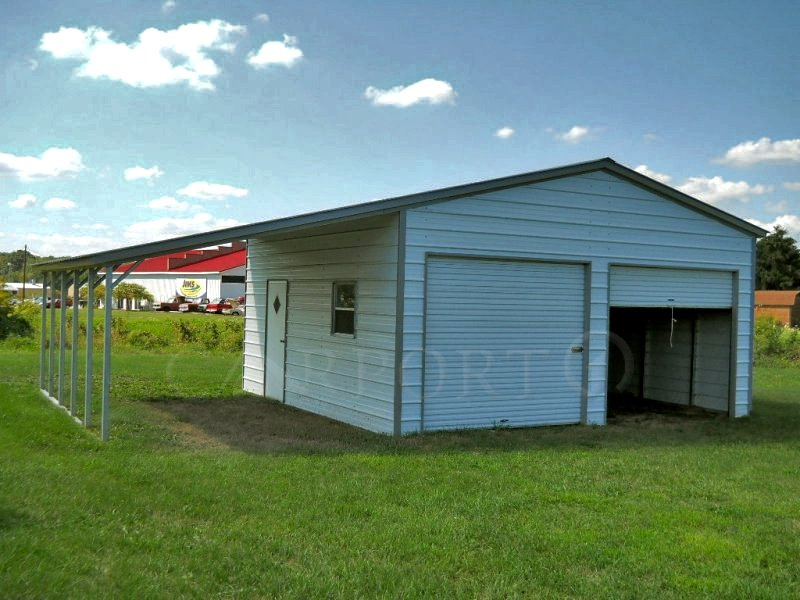 34x26 Vertical Metal Lean-to Garage