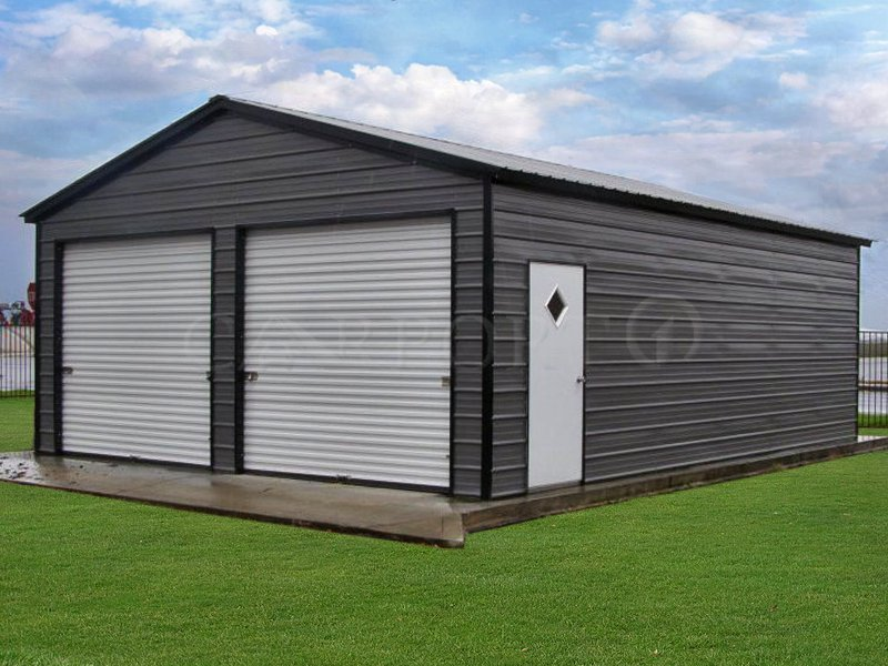 22x31 Vertical Roof Double Car Garage