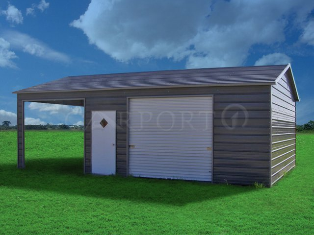 22x31 Boxed-Eave Roof Single Car Utility Image