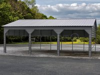 24x31 Vertical Roof Triple Car Carport