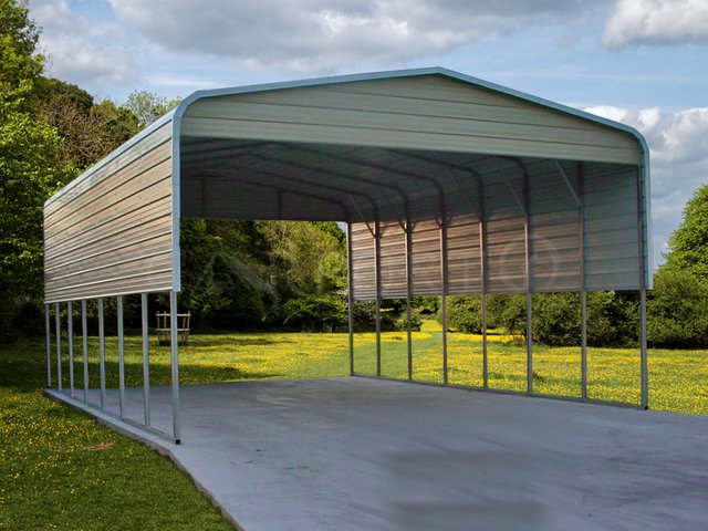 22×36 Regular Roof Double Car Carport Image