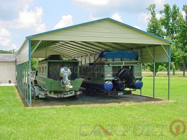 20x31 Boxed Eave Roof Double Car Carport Image