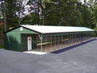 24x66 Vertical Roof Double Car Carport
