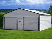 24x26 Boxed-Eave Roof Double Car Garage