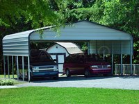 24x26 Regular Roof Double Car Carport Image