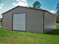 30x36 Vertical Roof Single Car Garage