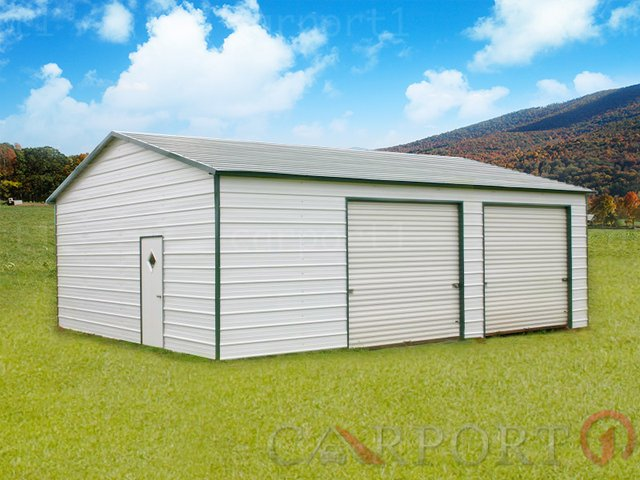 24x31 Boxed-Eave Roof Double Car Garage Image