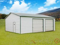 24x31 Boxed-Eave Roof Double Car Garage