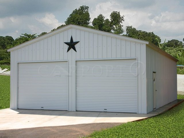 24x31 Vertical Roof Double Car Garage Image