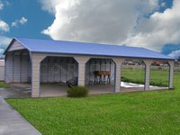24x41 Boxed Eave Roof Double Car Carport