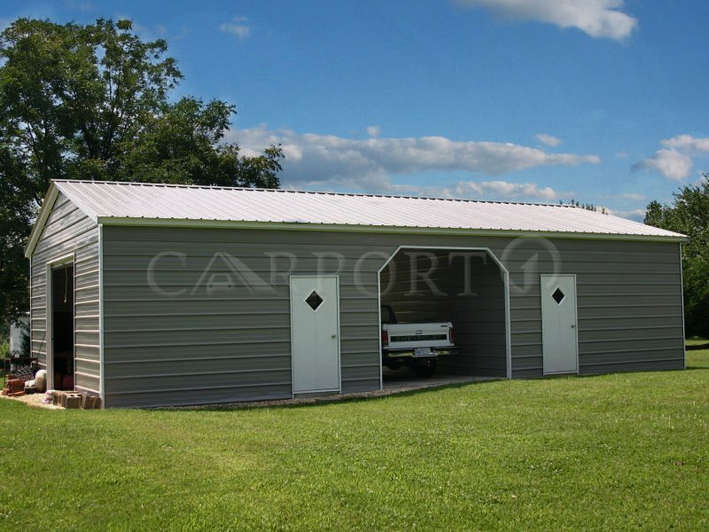 26x41 Vertical Roof Double Car Garage