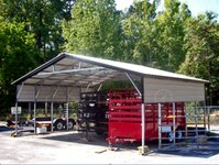 26x21 Vertical Roof Triple Wide Carport
