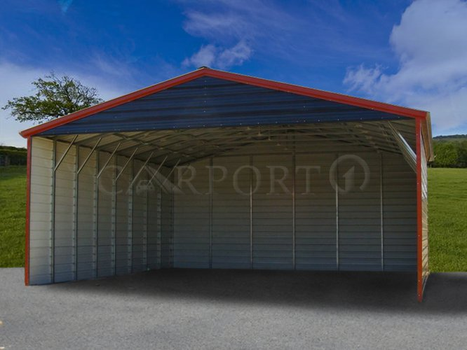 30×41 Boxed Eave Triple Wide Steel Carport