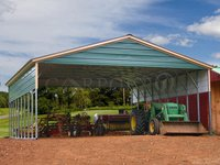 30x36 Vertical Roof Triple Wide Carport Image