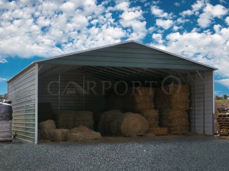 30x41 Boxed Eave Roof Triple Wide Carport Image