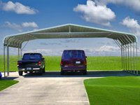 28x26 Regular Roof Triple Wide Carport