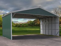 28x31 Vertical Roof Triple Wide Carport