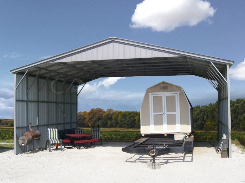 28x36 Triple Wide Vertical Roof Carport