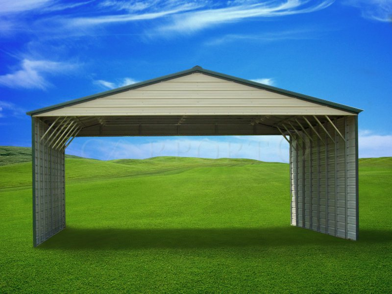 30x41 Vertical Roof Triple Wide Carport