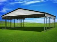 30x46 Vertical Roof Triple Wide Metal Carport