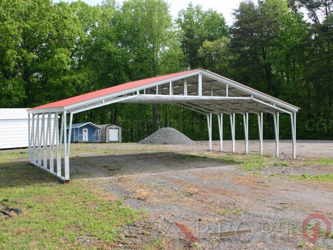 40-wide Metal Carport