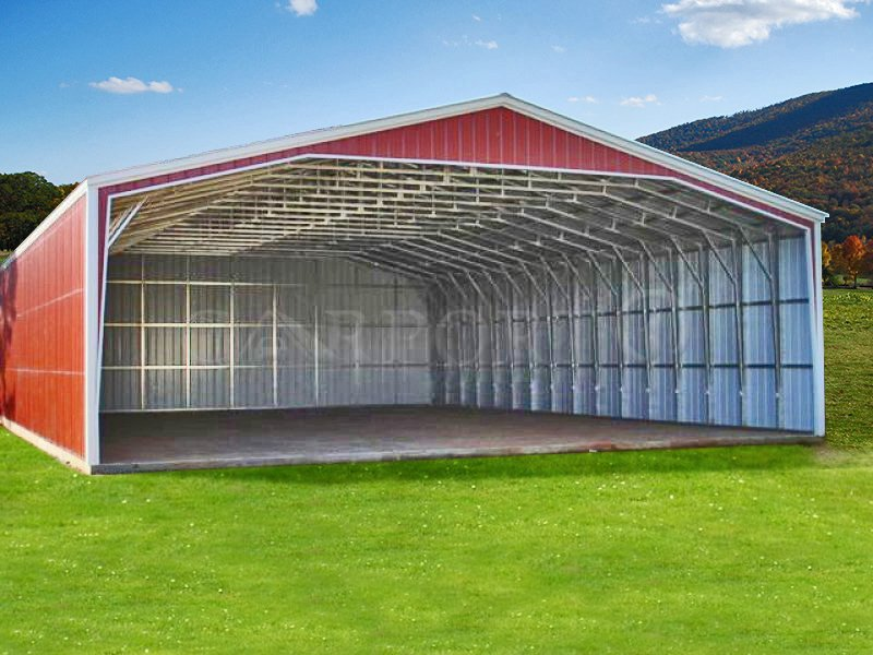 40×30 Vertical Roof Extra Wide Carport