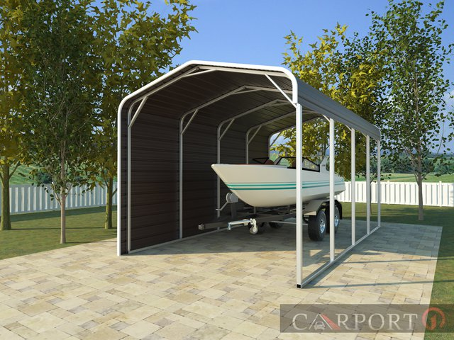 Metal boat shelter