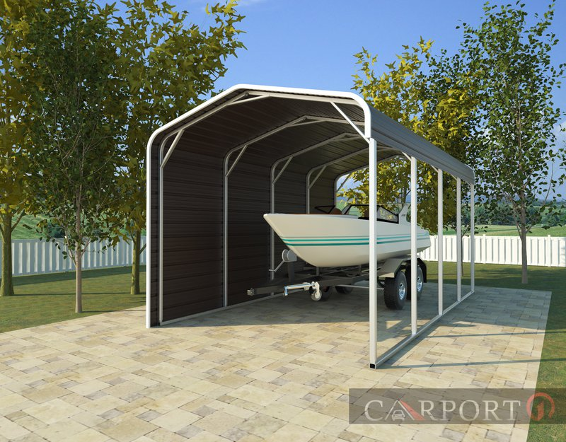 Metal boat shelters from Carport1 are perfect for Florida residents