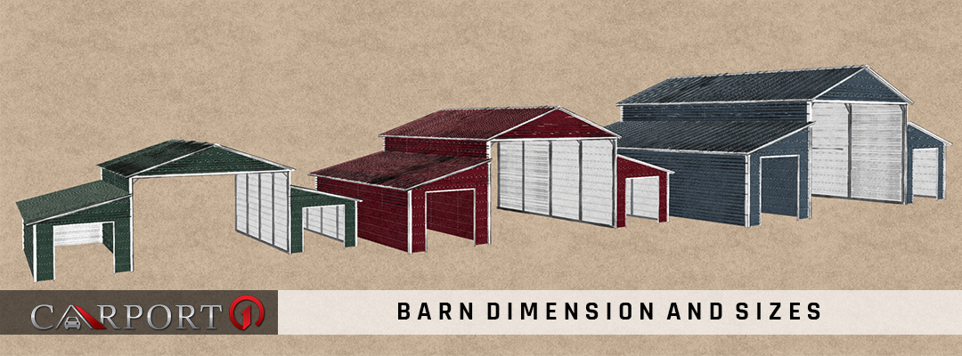 Metal Barn Dimensions & Sizes