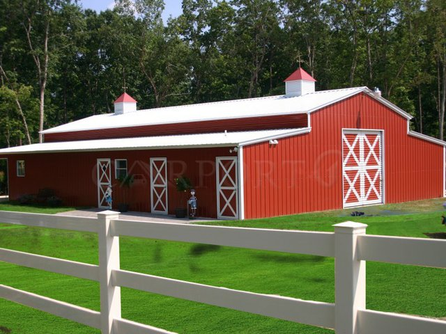 44x41 Metal Storage Barn Building Image