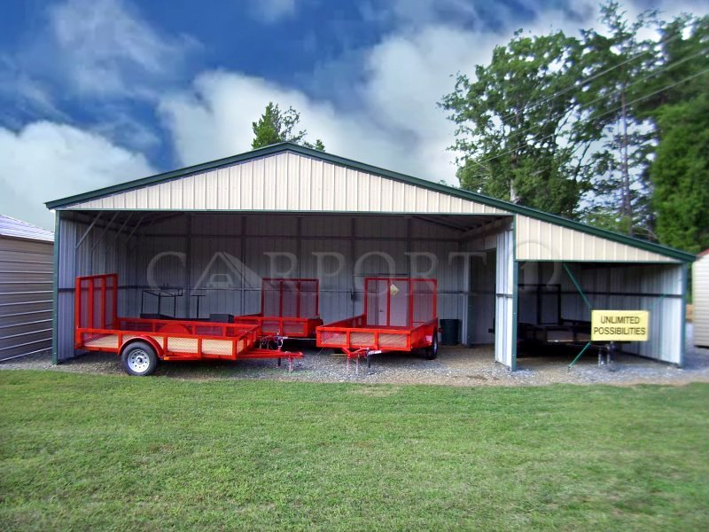 54x31 Continuous Roof Metal Barn Image