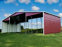 44x21 Metal Seneca Barn (Continuous Roof Line Barn)
