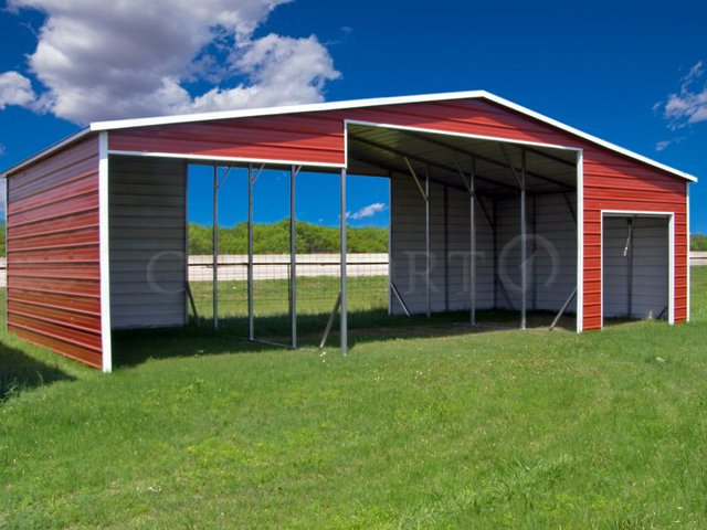 42x21 Continuous Roof Steel Barn Image