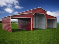 36x26 Raised Center Aisle Barn Storage Building