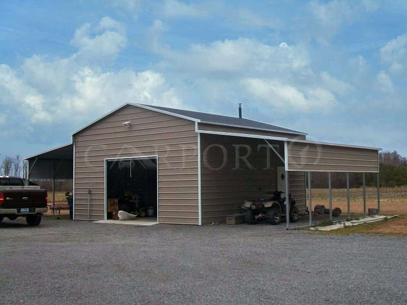 48x26 Equipment Storage Barn Building
