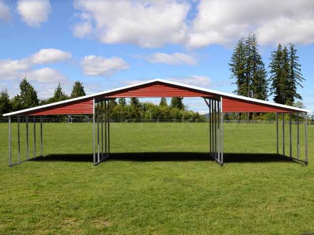 42x21 Continuous Roof Metal Barn