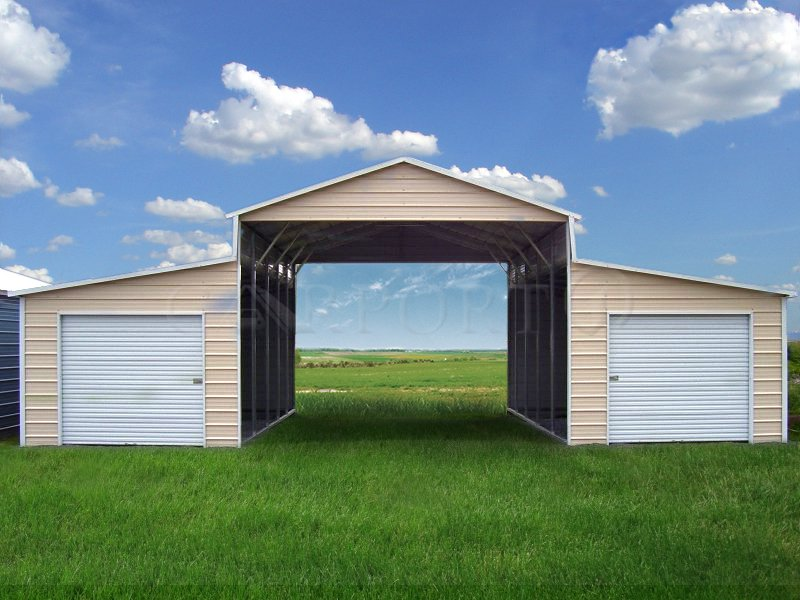 42x26 Raised Center Aisle Barn, Equipment Storage