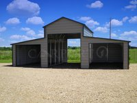 36x31 Raised Center Aisle Barn Equipment Storage