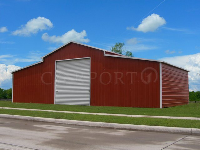 44x21 Carolina Metal Barn Building Image