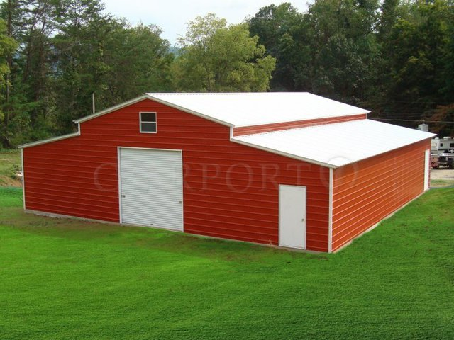 44x36 Steel Storage Building Image