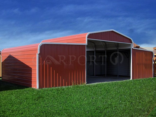 42x21 Regular Roof Metal Barn Image