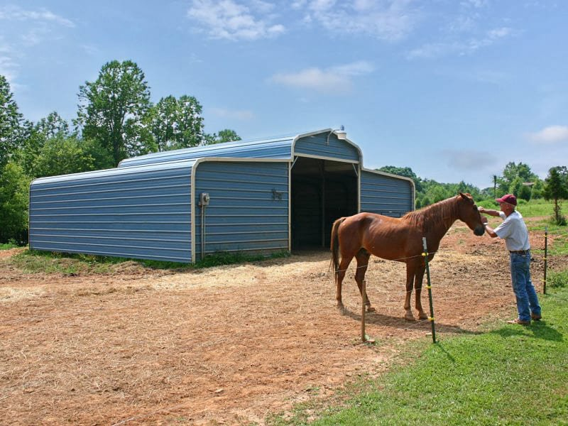 36x26 Regular Roof Metal Barn